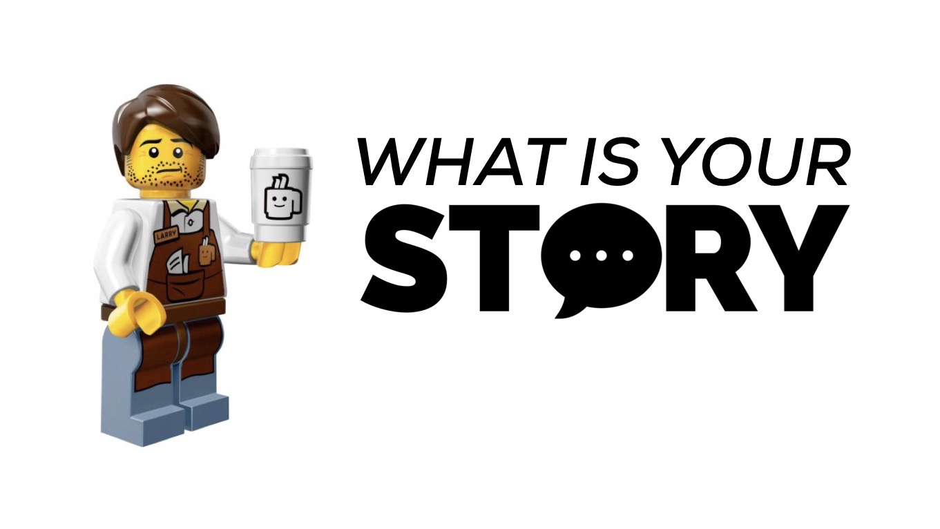 Your story lego man with coffee